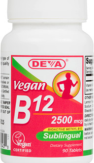 B12 2500mcg Deva Bottle