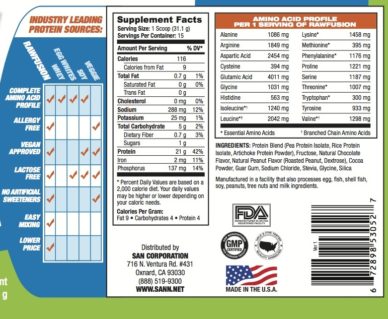 Raw fit nutrition facts