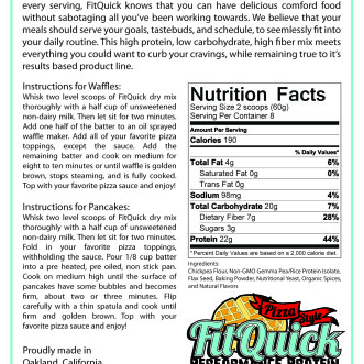 FitQuick Pizza Back Label
