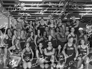 black and white autograph