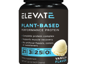 elevate vegan protein is made by plantbuilt teammates Paul and Jillian Salomone