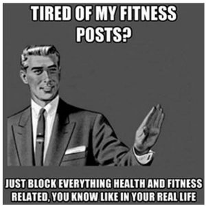 tired of fitness posts