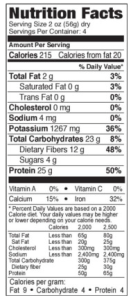 Explore black bean spaghetti nutrition facts