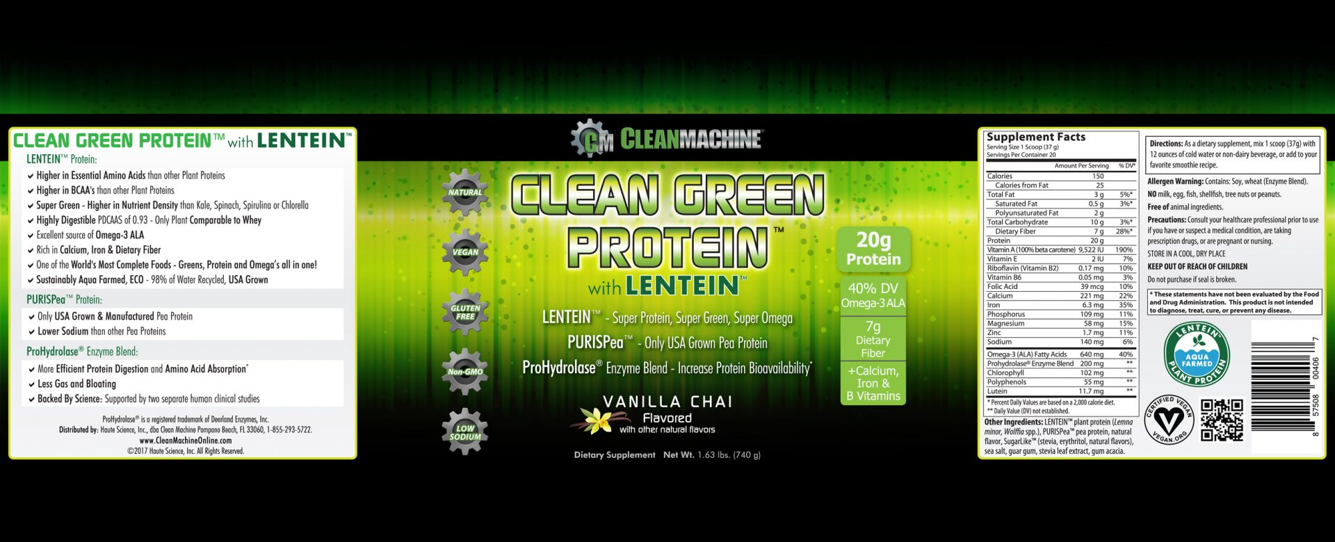 It is a graphic of Adorable Clean Label Project Vegan Protein