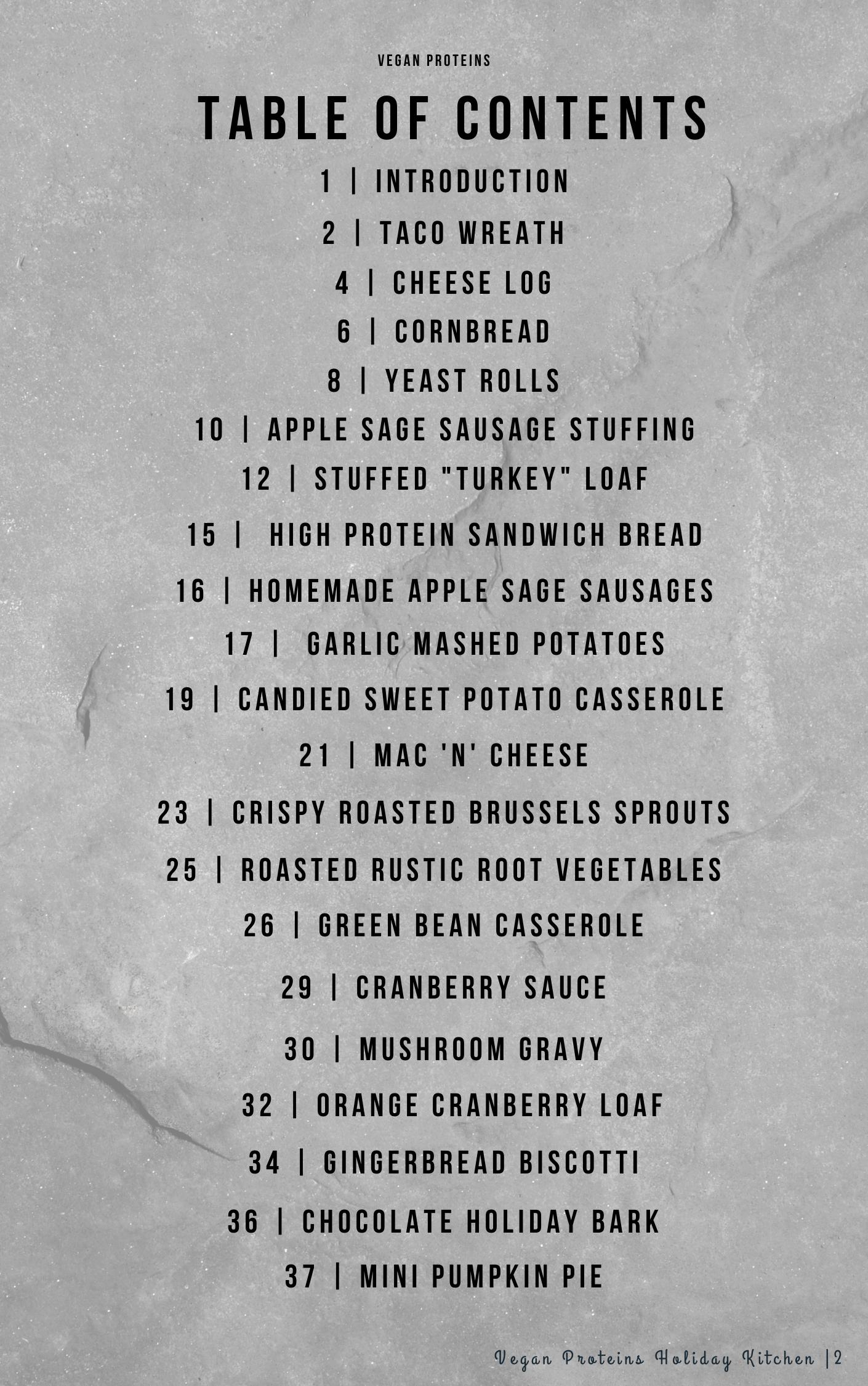 Vegan Proteins Holiday Kitchen Cookbook (E-Book)